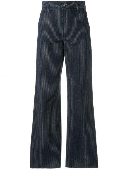 Синие широкие джинсы с карманами на пуговицах свободного кроя Nobody Denim