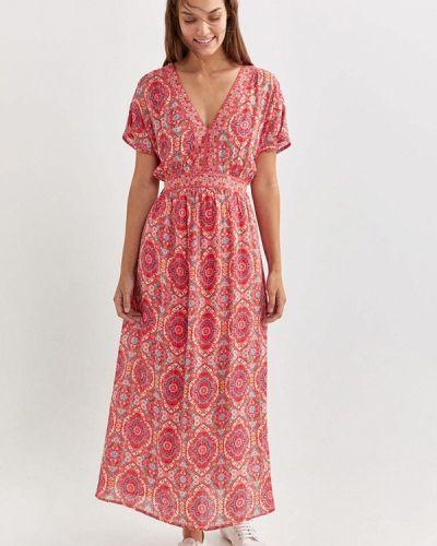 Прямое розовое платье Springfield