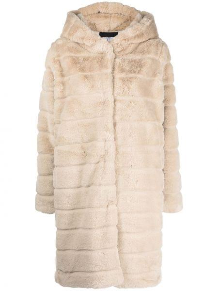 Beżowy płaszcz z kapturem Apparis