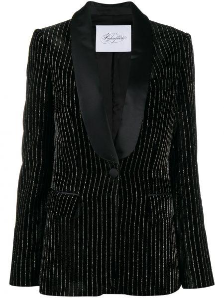 Черный пиджак с карманами на пуговицах из вискозы Redemption