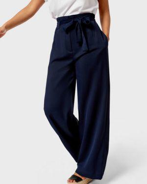 Свободные темно-синие свободные брюки с карманами свободного кроя Ostin