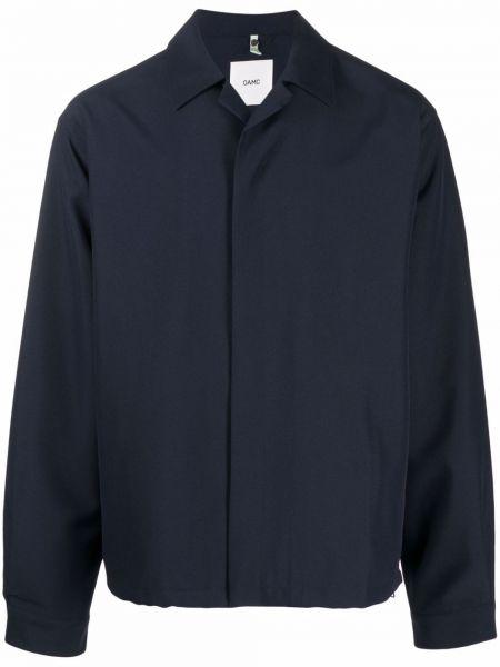 Niebieska koszula z jedwabiu Oamc