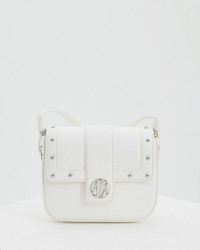 Белая сумка через плечо Armani Exchange