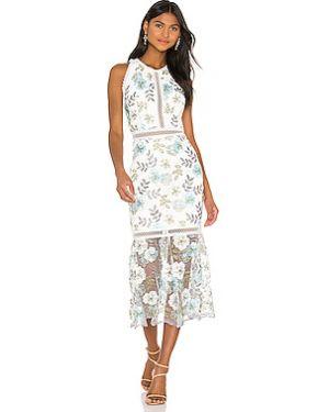 Платье миди с вышивкой с цветочным принтом Bronx And Banco
