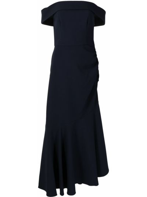 Niebieska sukienka asymetryczna Sachin & Babi