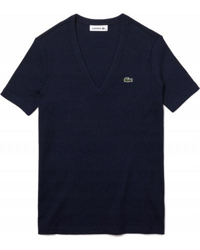 Bawełna bawełna czarny t-shirt Lacoste