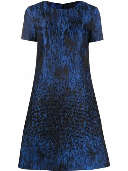 Расклешенное платье мини на молнии с вырезом с короткими рукавами Talbot Runhof