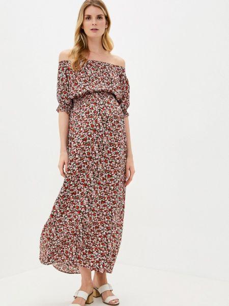 Платье с открытыми плечами весеннее Mammysize