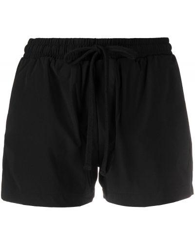 Нейлоновые черные короткие шорты с карманами Thom Krom