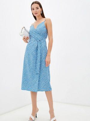 Голубое платье с запахом Imocean