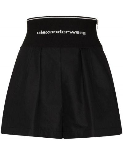 Хлопковые шорты - черные Alexander Wang