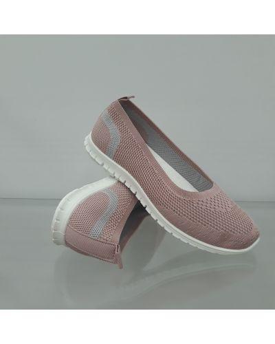 Текстильные слипоны - розовые Sopra