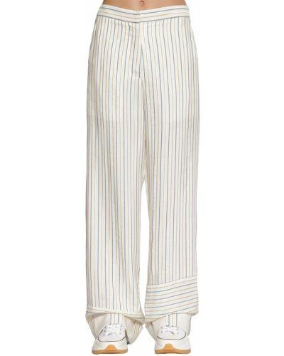 Хлопковые брюки - белые Jw Anderson