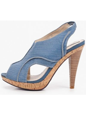 Синие кожаные босоножки Enzo Logana