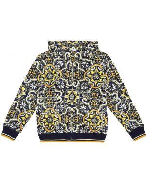 Свитшот с капюшоном на высоких Dolce & Gabbana Kids