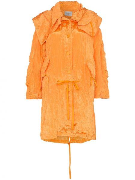 Облегченная куртка с капюшоном мятная на пуговицах Poiret