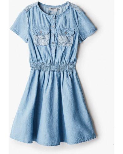 Повседневное свободное синее джинсовое платье Finn Flare