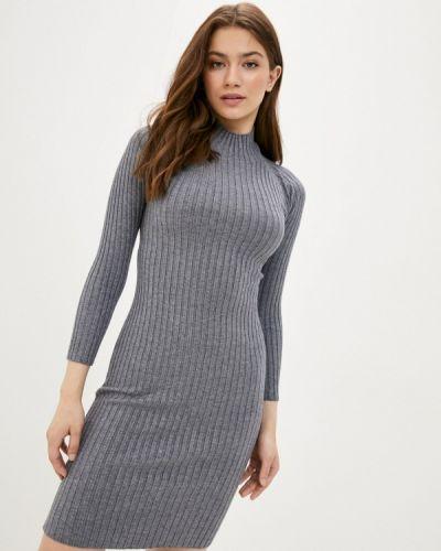 Хлопковое серое вязаное платье Fresh Cotton