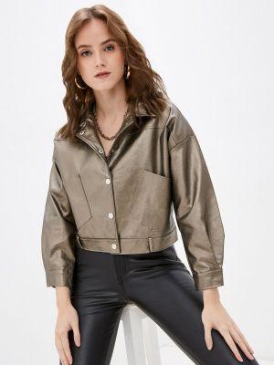 Кожаная куртка - золотая Softy
