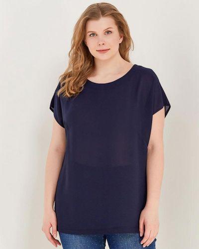 Блузка синяя весенний Leshar