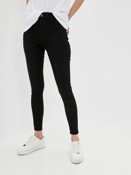 Черные джинсы-скинни с пайетками Defacto