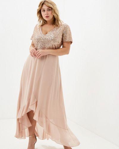 Вечернее платье осеннее бежевое Kitana By Rinascimento