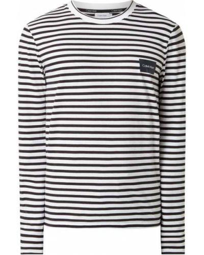 Biały pasek w paski Ck Calvin Klein
