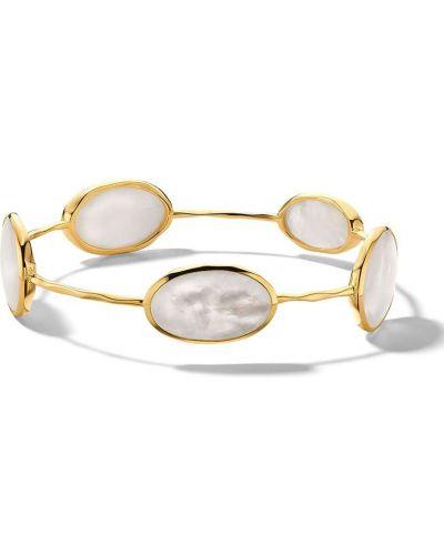 Золотистый золотой браслет золотой с жемчугом Ippolita