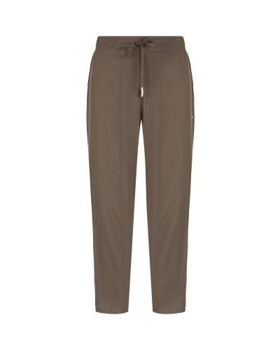 Свободные зеленые летние брюки свободного кроя из вискозы Luhta
