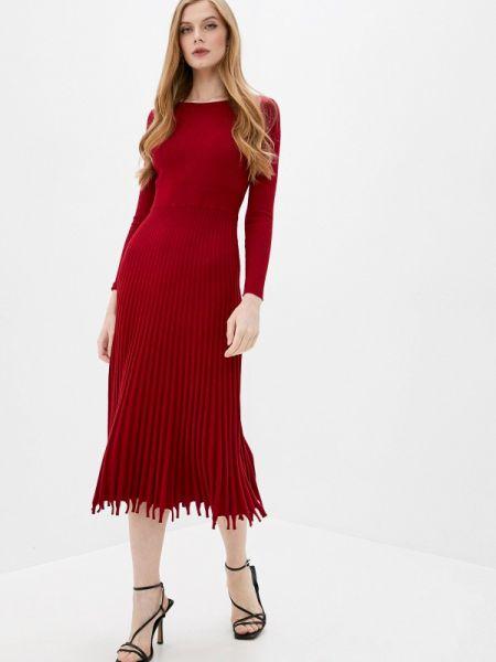 Платье прямое красный Imocean