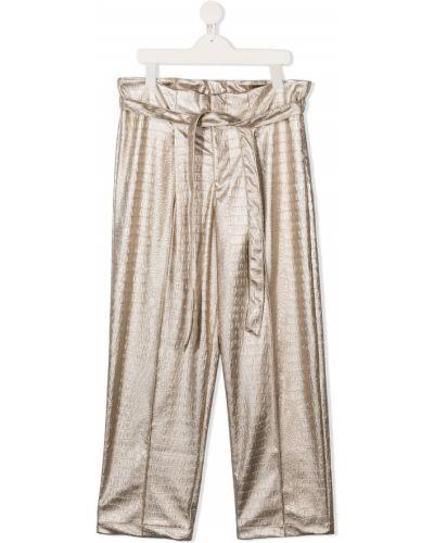 Брючные желтые брюки свободного кроя Mariuccia Milano Kids
