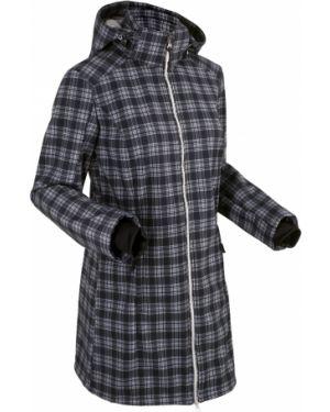Куртка с капюшоном черная длинная Bonprix
