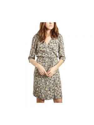 Sukienka kopertowa w kwiaty z printem Sessun