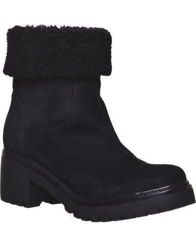Черные ботинки на платформе Moncler