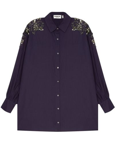 Блузка с пайетками на пуговицах Essentiel Antwerp