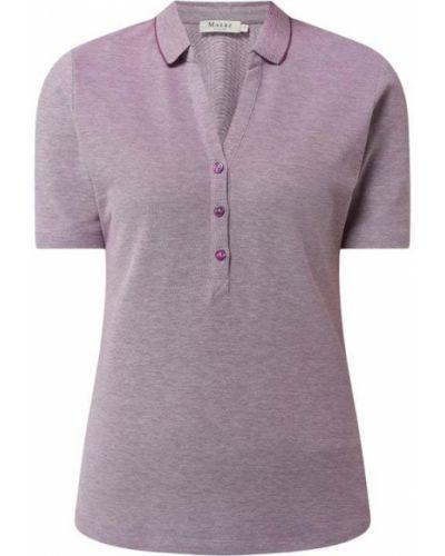 T-shirt bawełniana - fioletowa Maerz Muenchen
