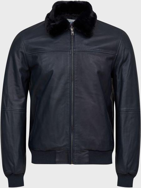 Куртка с мехом - черная Gallotti