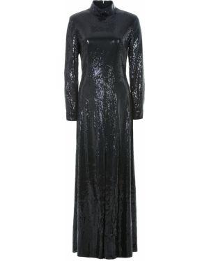 Плиссированное платье макси с пайетками с воротником на молнии A La Russe