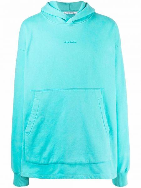 Bluza z nadrukiem z printem - zielona Acne Studios