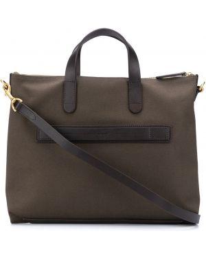 С ремешком нейлоновый армейский коричневый портфель Mismo