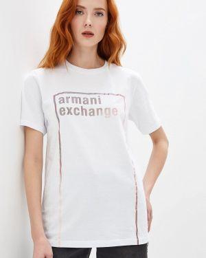Поло белое Armani Exchange