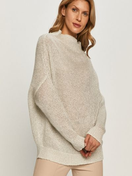 Белый тонкий шерстяной свитер Max&co