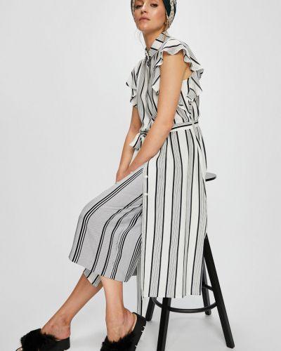 Платье миди с поясом из вискозы Answear