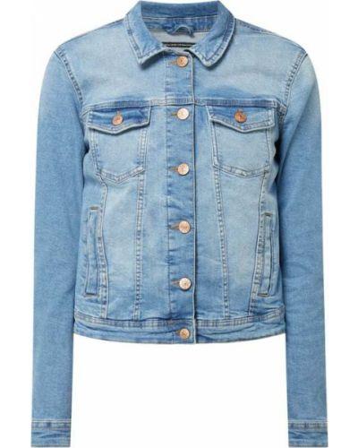 Niebieski bawełna kurtka jeansowa z kołnierzem Only