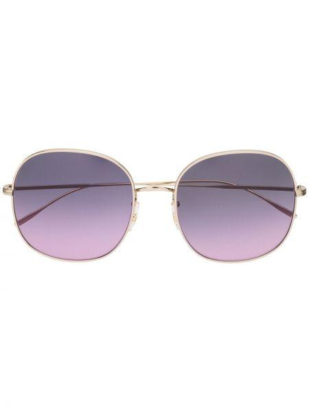 Желтые солнцезащитные очки металлические Oliver Peoples