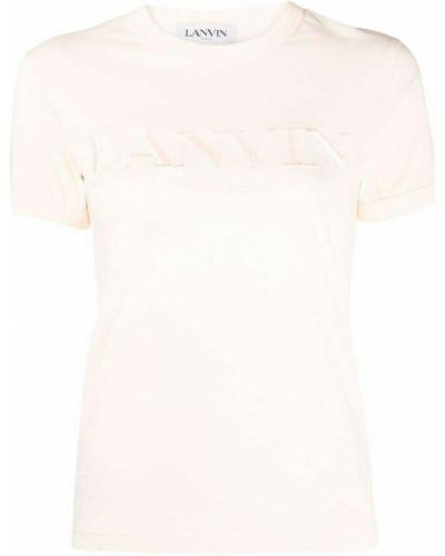 Różowa koszulka Lanvin