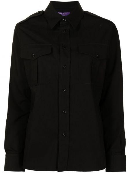 Czarna koszula z długimi rękawami Ralph Lauren Collection