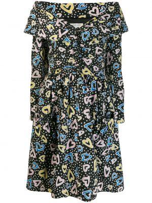 Приталенное расклешенное платье винтажное Victor Costa Vintage