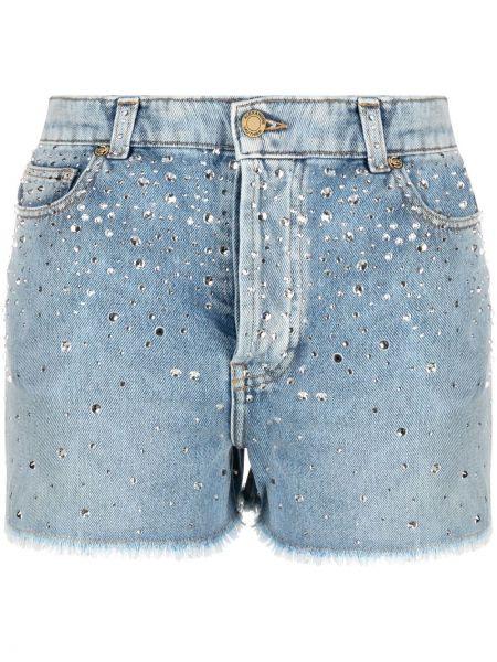 Синие хлопковые джинсовые шорты с карманами Alexandre Vauthier