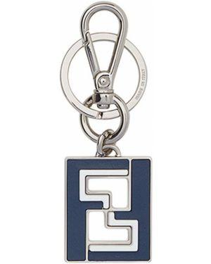 Брелок синий с логотипом Fendi